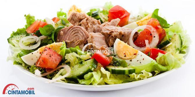 Gambar yang menunjukan makanan empat sehat dan lima sempurna