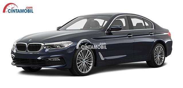 Urat Tegas Pada Samping BMW 520i Luxury Line 2018 berwarna biru