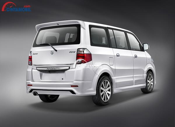 gambar bagian belakang  Suzuki APV Luxury 2014 berwarna putih