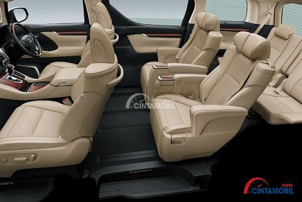 Kabin Toyota Alphard Hybrid 2015 Lebih Luas Dan Nyaman