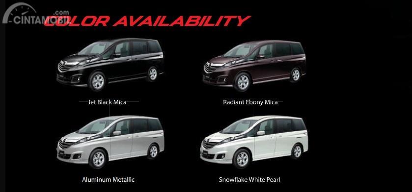 Varian-varian Mazda Biante menawarkan beragam pilihan warna menarik yang sesuai dengan gaya berkendara Anda