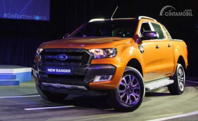 Gambar yang menunjukan mobil baru Ford Ranger yang dirilis di Indonesia