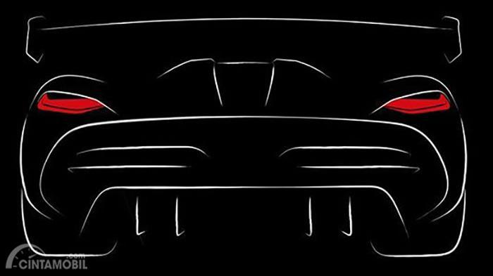 Gambar yang menunjukan penerus Koenigsegg Agera yang akan diluncurkan pada Geneva Motor Show 2019