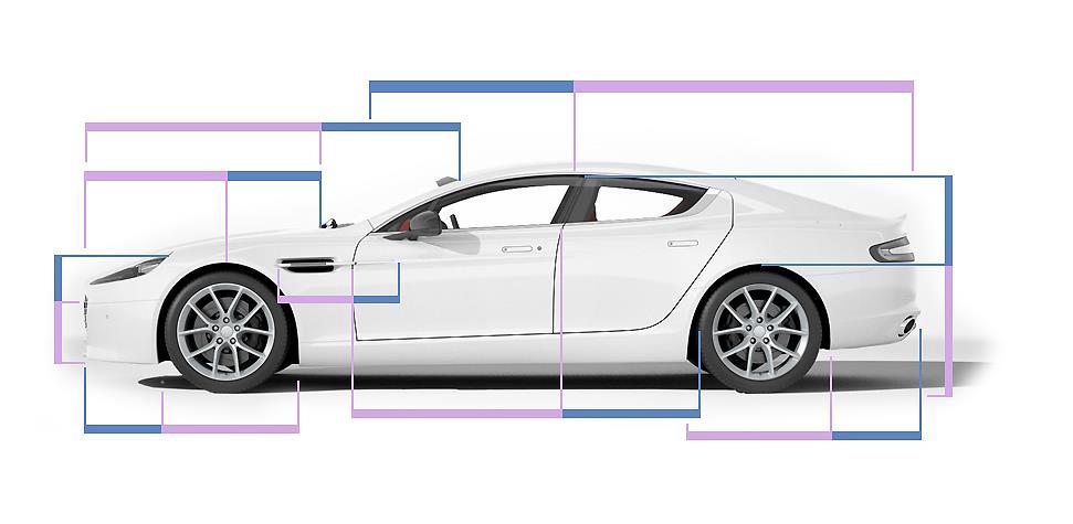 Gambar yang menunjukan konsep Golden Ratio dari Aston Martin Ripede