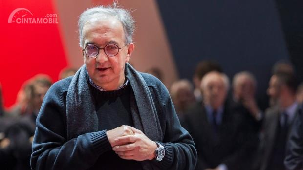 Gambar yang menunjukan profil Sergio Marchionne sebagai CEO Fiat