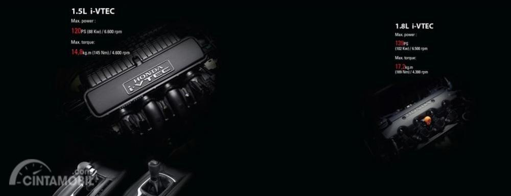 Mesin Honda HR-V 2018 terbagi menjadi dua pilihan yakni 1.8 Liter dan 1.5 Liter