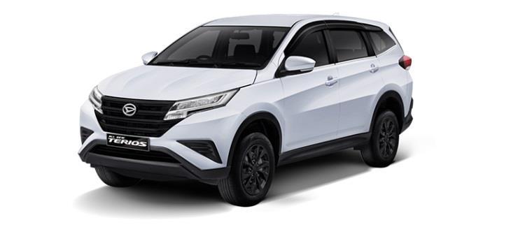 Daihatsu Terios X Deluxe menggunakan bodi trim yang sporty nan mewah