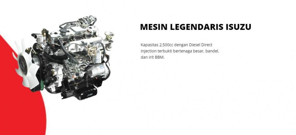 Mesin Isuzu Traga memiliki daya maksimum sebesar 80 PS