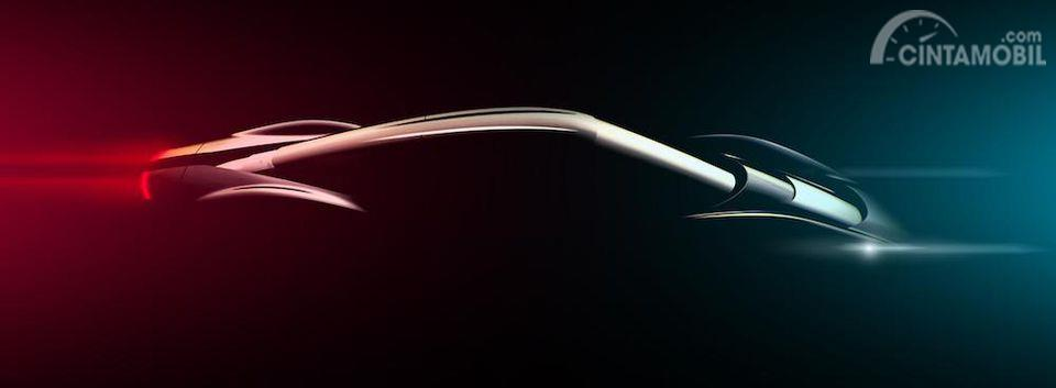 Gambar teaser PF0 Automobili Pininfarina dari samping