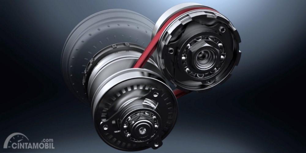 Transmisi Nissan Kicks 2019 menggunakan konfigurasi XTRONIC Continuously Variable Transmission