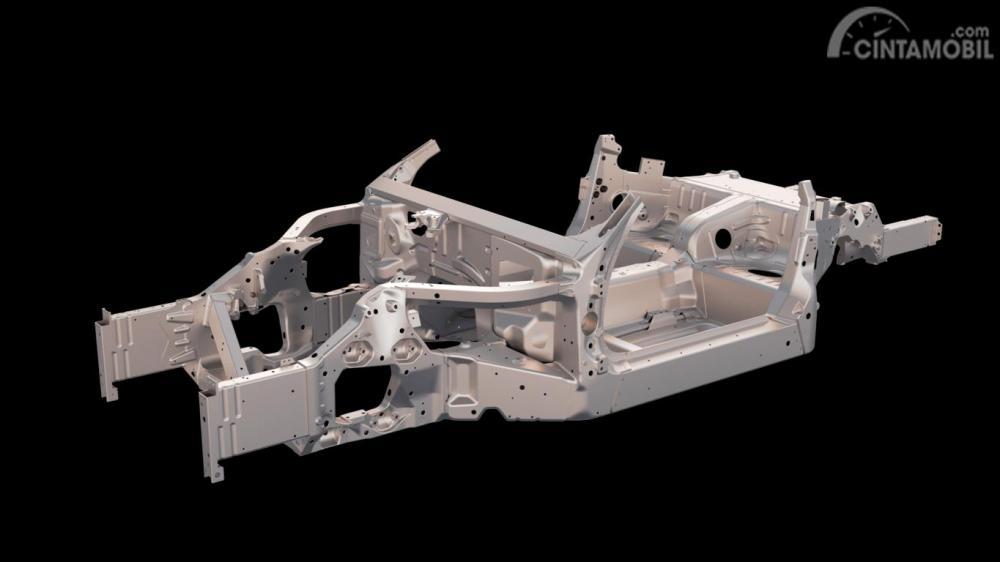 Desain arsitektur rangka bodi Ferrari Portofino 2019