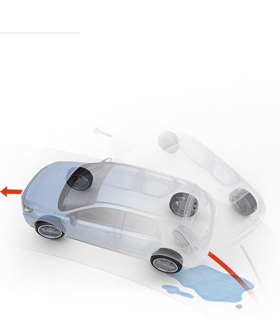 Tampak ilustrasi dari Lane Keeping Assist System pada Hyundai i30 N Fastback 2018