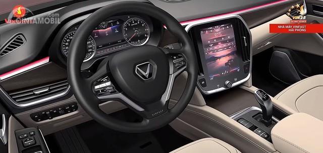 Dashboard SUV VinFast LUX SA2.0 2019 menyuguhkan berbagai fitur futuristik yang siap menghibur Anda