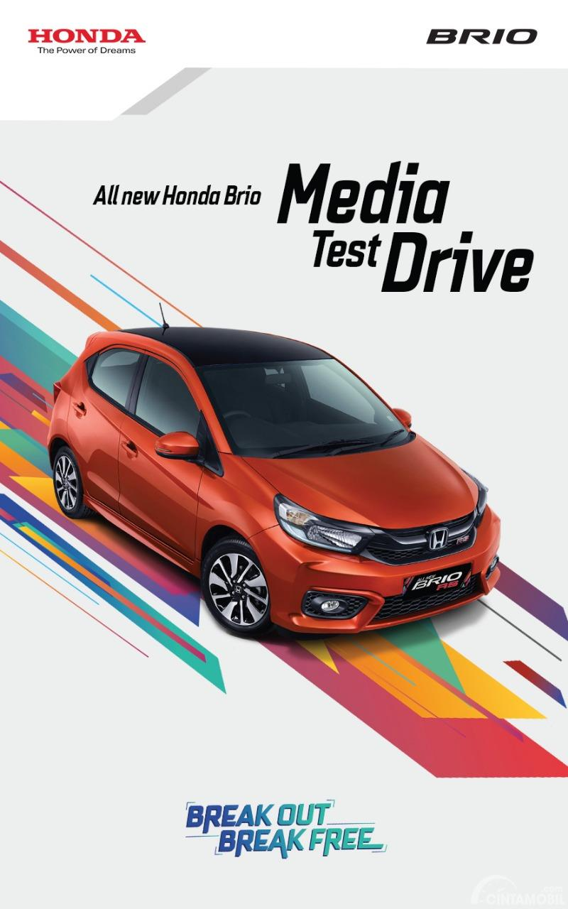 Gambar Banner All New Honda Brio Media Test Drive 2018