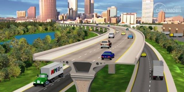 Gambar hasil akhir Jalan Tol Jakarta-Cikampek