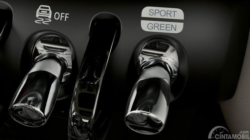 Gambar menunjukkan Fitur  Driving Mode pada mobil MINI Cooper S Cabrio 2018