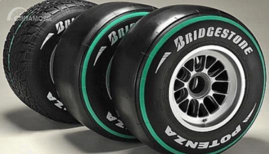 Tampak Ban Mobil F1 Keluaran Bridgestone