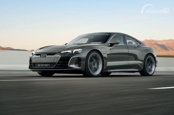 Gambar desain terbaru Audi e-tron GT 2019