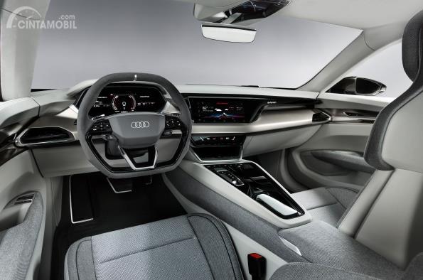 Gambar dasbor Audi e-tron GT 2019