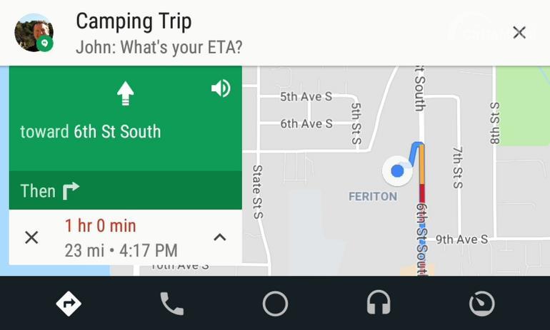 Gambar update Android Auto pesan