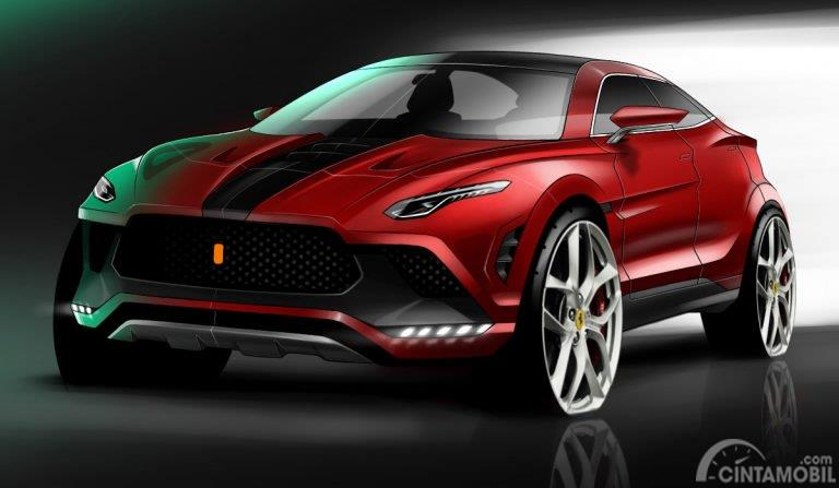 Gambar rendering Ferrari Purosangue
