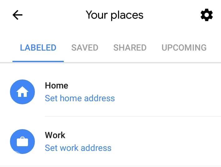 Tampilan Fitur label pada Google Maps