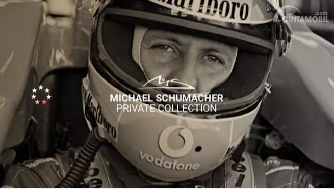 foto Michael Schumacher dengan kata-kata private collection