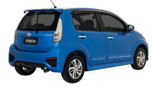 Eksterior belakang Daihatsu Sirion 2015 sudah dilengkapi dengan Rear Spoiler