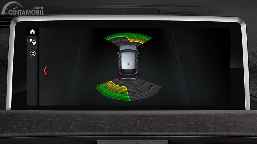 Gambar menujukkan Sistem keselamatan BMW X1 sDrive18i Dynamic Line 2018