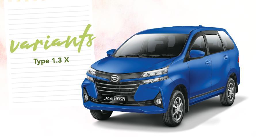 Daihatsu Xenia 1.3 X 2019 belum menghadirkan aksen krom pada Front Grille-nya