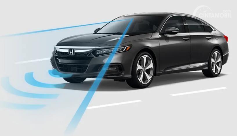 Gambar menunjukkan fitur Honda Sensing untuk Honda Accord Turbo 2019