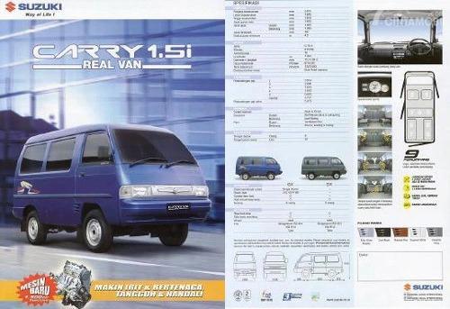 Tampak Brosur Suzuki Carry Futura non karoseri