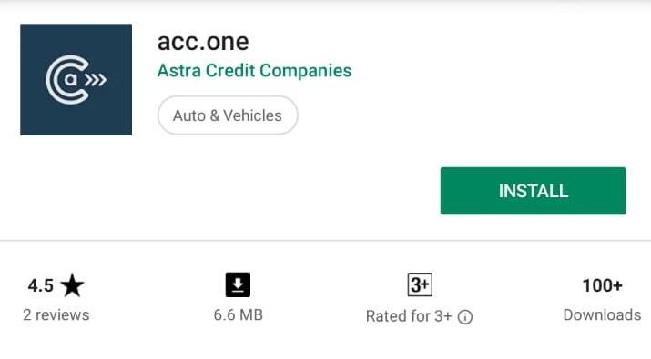 acc.one yang sudha bisa di unduh di PlayStore