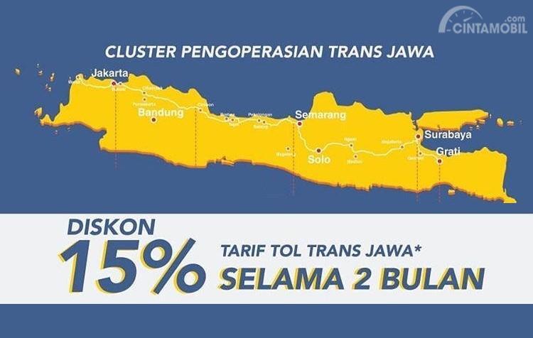 Banner diskon tarif Tol Trans Jawa