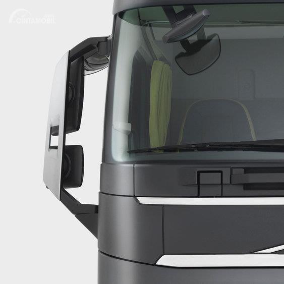 Gambar menunjukkan tampilan bagian Spion dari mobil Volvo FH16 2012