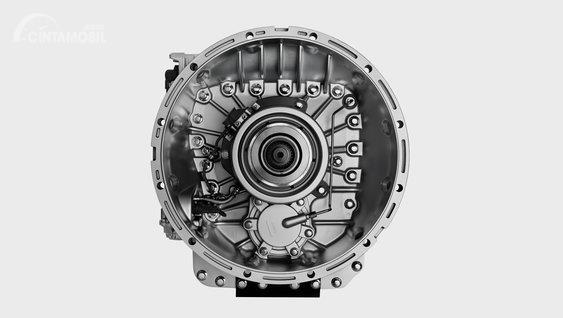Gambar menunjukkan transmisi AMT pada Volvo FH16 2012