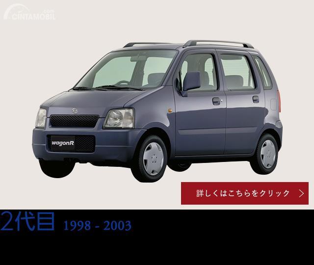 Gambar mobil Suzuki Wagon R generasi kedua berwarna abu-abu