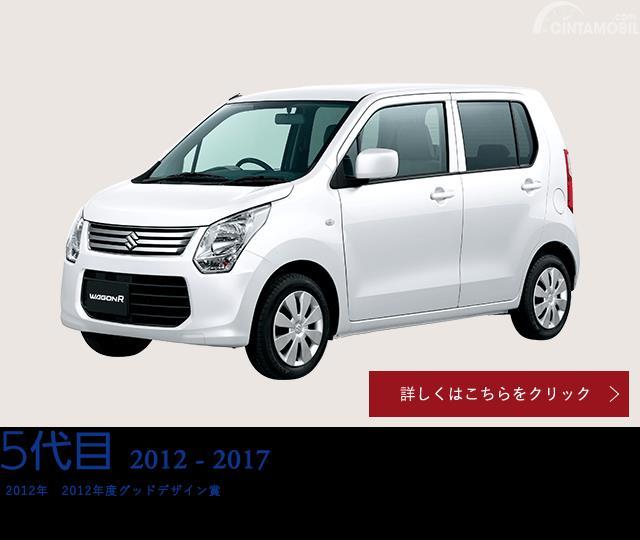 Gambar menunjukkan tampilan sisi depan mobil Suzuki Wagon R generasi kelima