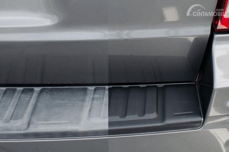 Bagian bumper cukup banyak panel hitam yang perlu perawatan