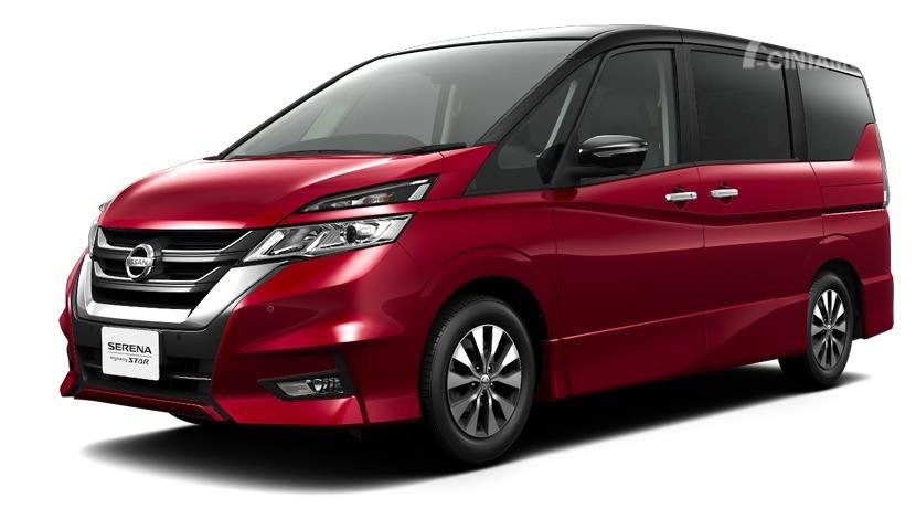 Tampak tampilan samping All New Nissan Serena 2019 tipe Highway Star