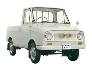 Gambar menunjukkan mobil Suzuraito Carrie FB 1961