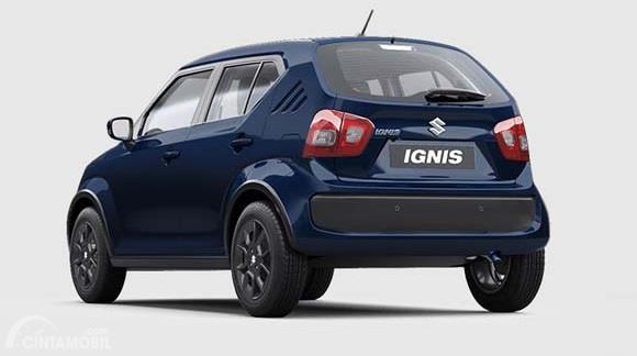 Eksterior belakang Suzuki Ignis 2019 menggunakan desain yang mirip dengan sebelumnya