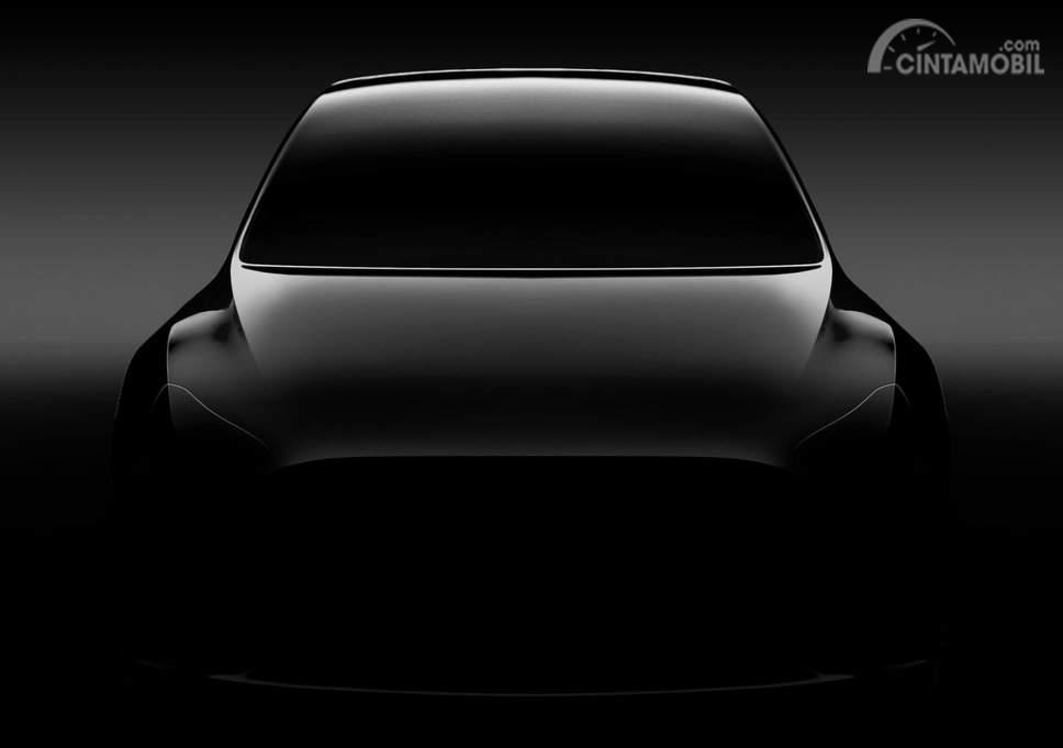 Gambar teaser Tesla Model Y