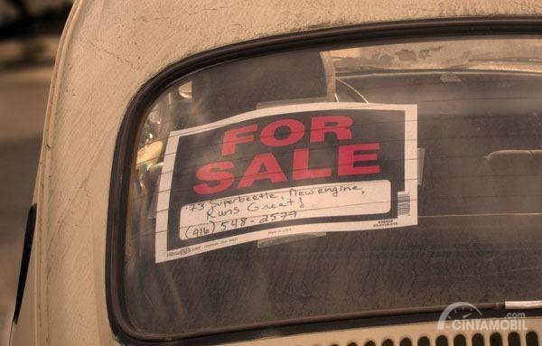 Pastikan menjual mobil Anda secara aman