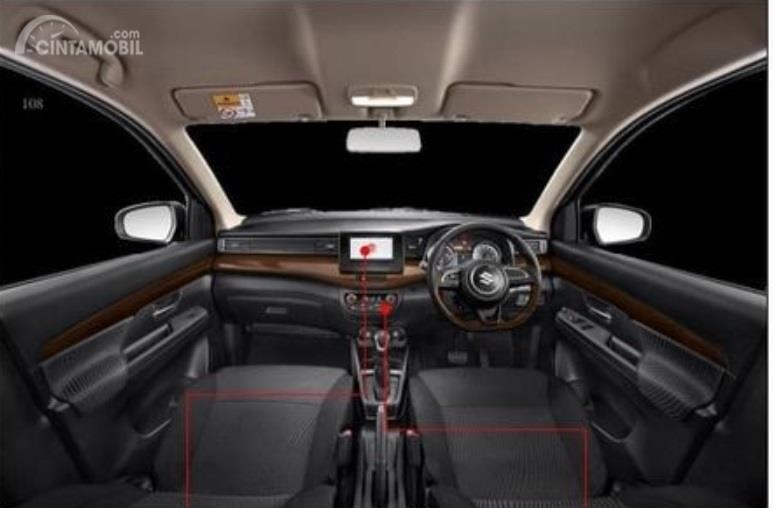 Interior Suzuki Ertiga Sport 2019 memiliki fitur yang mirip dengan varian GX