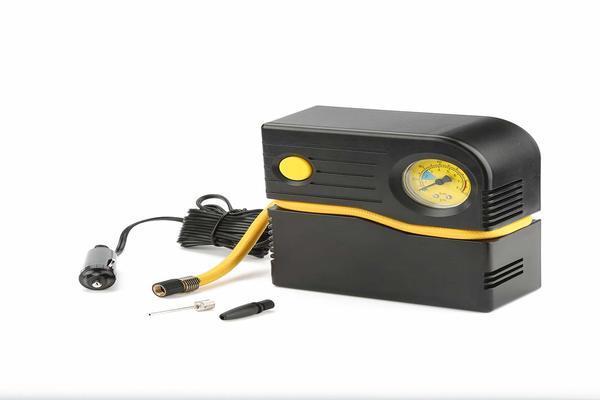 Foto kompresor ban portable warna hitam