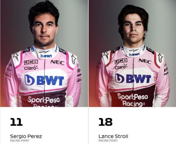 Sergio Perez - Lance Stroll