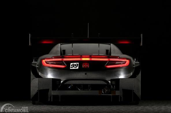 Gamabr mobil Honda NSX Concept GT 2017 berwarna hitam dilihat dari sisi belakang