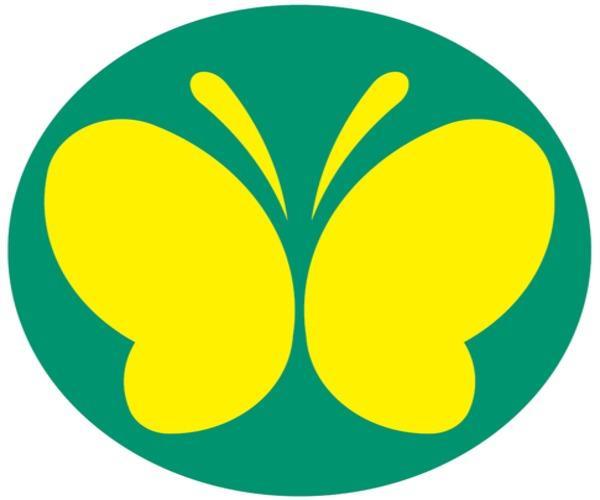 Stiker butterfly mark untuk pengemudi dengan keterbatasan pendengaran