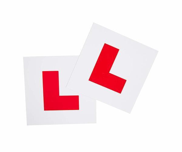 Contoh stiker peringatan L-Plate